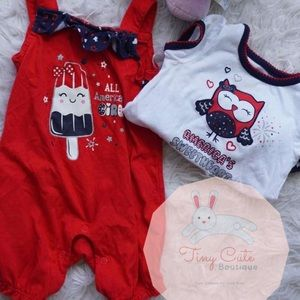 Other - 4th of July Baby Girl Set